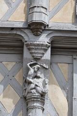 Maison d'Adam et Eve ou de l'Arbre de Vie - Français:   Extérieur de la maison d\'Adam à Angers. Détail.