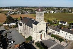 Eglise -  Vue aérienne de l'Église Saint-Aubin de La Bohalle
