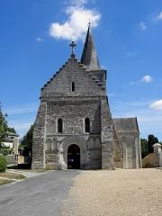 Eglise - Français:   Église Saint-Germain de Mouliherne (49). Façade occidentale.