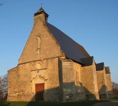 Chapelle Sainte-Emérance -  Chapelle Ste Emerance à la Pouèze (49), entrée ouest.
