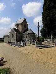 Eglise -  Extérieur de l'église Saint-Jean-Baptiste de Bannes (53).