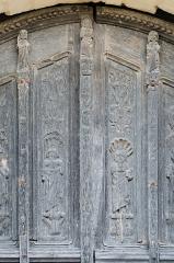 Eglise Saint-Martin-de-Tours - Français:   Vantaux du portail principal de l\'église Saint-Martin - Courgenard, Sarthe