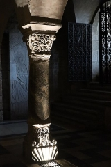 Abbaye de la Couture - Intérieur de l'église Notre-Dame-de-la-Couture au Mans (72). Crypte.