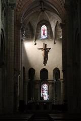 Eglise Notre-Dame-du-Pré - Intérieur de l'église Notre-Dame-du-Pré au Mans (72). Chœur.