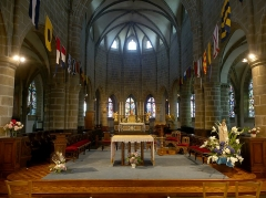 Eglise Notre-Dame - English:   Sight of the altar and choir of Notre-Dame du Cap Lihou church, in Granville, Normandy, France.