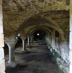 Abbaye de la Lucerne - Français:   Abbaye de la Lucerne. Cellier, sous le réfectoire.