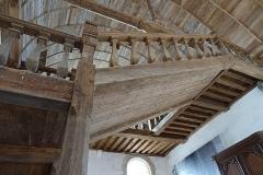 Abbaye de la Lucerne - Français:   Abbaye de la Lucerne. Escalier du réfectoire.