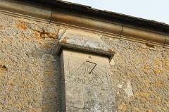 Eglise - Français:   Cadran solaire sur la façade sud de l\'église Saint Pierre à Saint-Pierre-du-Jonquet (Calvados)