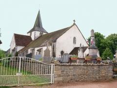 Eglise - Français:   Église Saint-Médard de Clomot (Côte d\'Or, France)