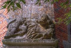 Château - Sculpture, Chapelle castrale, Pagny-le-Château (Côte d'Or, Bourgogne, France)