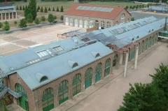 Usines Schneider  , ou ancienne halle aux grues et aux machines -  Centre Universitaire Condorcet, Le Creusot, Bourgogne, FRANCE
