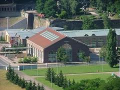 Usines Schneider  , ou ancienne halle aux grues et aux machines -  University Library of Le Creusot, France   Bibliothèque universitaire du Creusot