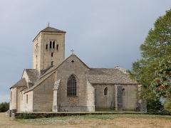 Eglise Saint-Julien - Deutsch: Die romanischen Kirche Saint-Julien, die auf einer Anhöhe hoch über Sennecey-le-Grand steht