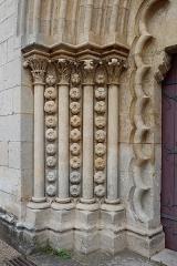 Eglise - Français:   Portail occidentale de la collégiale Notre-Dame de Montréal (89). Ébrasement gauche.