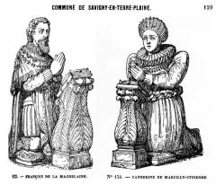 Eglise -  Église de Savigny-en-Terre-Plaine, Yonne d'après Victor Petit  Description des villes et campagnes du département de l'Yonne, 1870