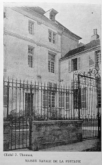 Maison de Jean de la Fontaine - Français:   publié vers 1900.