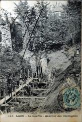 Porte de Chenizelles - Français:   sur une carte ancienne.