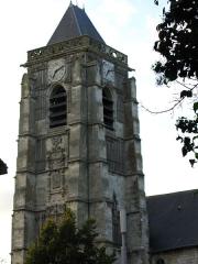 Eglise Saint-Médard -  Domart-en-Ponthieu (Somme, France) -    Le clocher de l'église.