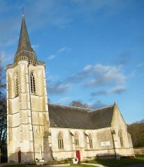 Eglise - Français:   Huppy, Somme, Fr, église