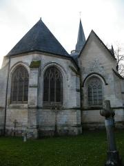 Eglise - Français:   Huppy, Somme, Fr, église, chevet.