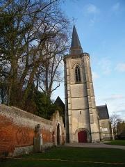 Eglise - Français:   Huppy, Somme, Fr, église, le clocher.