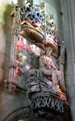Eglise Saint-Sépulcre -  Montdidier (Somme, France) -  Le «Christ de pitié», dans l'église du Saint-Sépulcre.   .