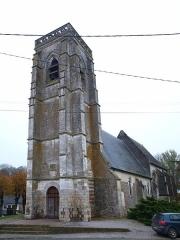 Eglise Saint-Samson et cimetière - Français:   Moyenneville (Somme, France); l\'église.