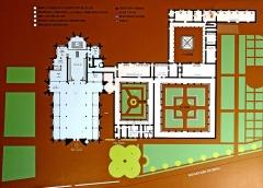 Ancienne abbaye de Brou - Deutsch: Abtei Brou, Grundriss, Erdgeschoss