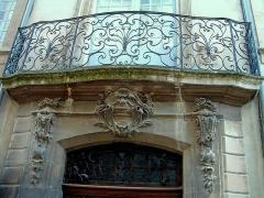 Hôtel de Fontanes dit de Beaulieu - Français:   Viviers - Hôtel de Beaulieu - Balcon