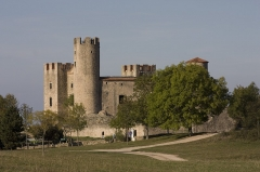 Tour - English:  The Castle of Essalois on leaving the Forest of Chambles.