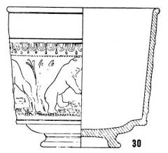Salle La Diana ou Salle des Etats de Forez - English: Form Drag. 30, in Joseph Dechelette, vases céramiques ornés de la Gaule romaine, vol. I, 1904, plate I.