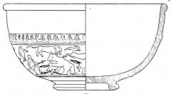 Salle La Diana ou Salle des Etats de Forez - English: Form Drag. 37, in Joseph Dechelette, vases céramiques ornés de la Gaule romaine, vol. I, 1904, plate II.