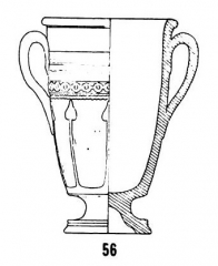 Salle La Diana ou Salle des Etats de Forez - English: Form Déch. 56, in Joseph Déchelette, Les vases céramiques ornés de la Gaule romaine: (Narbonnaise, Aquitaine et Lyonnaise), vol. 1, 1904, plate II.