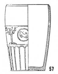 Salle La Diana ou Salle des Etats de Forez - English: Form Déch. 57, in Joseph Déchelette, Les vases céramiques ornés de la Gaule romaine: (Narbonnaise, Aquitaine et Lyonnaise), vol. 1, 1904, plate II.