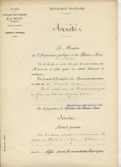 Tombeaux romains de Trion - Français:   Classement par arrêté du 12 août 1905 du Tombeaux romains de Trion. Trouvé sur la base Mérimée n° PA00117991