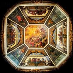 Hôpital - Français:   Plafond de la chapelle de l\'ancien Hôtel Dieu de Villefranche 69400