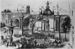 Fontaine Bartholdi - Exposition industrielle de Reims sur les hautes promenades.