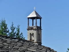 Chapelle Saint-Antoine - English: Sight of the tiny roman bell tower of Saint-Antoine chapel, in Bessans, Savoie, France.