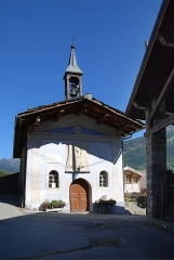 Chapelle Saint-Grat, au hameau de Vulmix - Français:   Bourg-Saint-Maurice (Savoie)