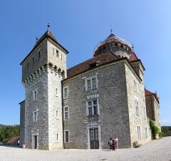 Château de Montrottier - English:   The south-east corner of the Montrottier Castle in August 2019. Lovagny, France.
