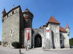 Château de Montrottier - English:   Eastern facade of the Montrottier Castle in August 2019. Lovagny, France.