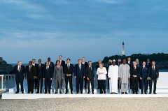 "Hôtel du Palais -  President Donald J. Trump joins the G7 Leadership and Extended G7 members as they pose for the ""family photo"" at the G7 Extended Partners Program Sunday evening, Aug. 25, 2019, at the Hotel du Palais Biarritz, site of the G7 Summit in Biarritz, France. (Official White House Photo by Andrea Hanks)"