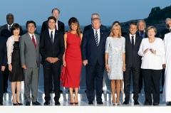 Hôtel du Palais -  President Donald J. Trump and First Lady Melania Trump participate in a family photo with G7 leaders, extended partners and their spouses during the G7 Extended Partners Program Sunday, Aug. 25, 2019, at the Hotel du Palais in Biarritz, France. (Official White House Photo by Andrea Hanks)