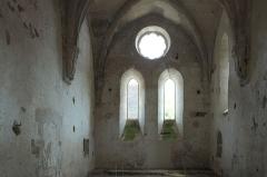 Ancienne chartreuse de Lugny - Deutsch: Chapelle de la Courroirie der ehehmaligen Kartause von Lugny in Leuglay im Département Côte-d'Or (Burgund/Frankreich), Innenraum