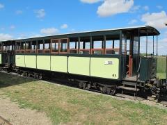 Ligne à voie ferrée métrique le Blanc-Argent (ou B.A.) sur le tronçon Luçay-le-Malé-Argy - Français:   La voiture Sarthe n° B 41 du Train du Bas-Berry le 23 août 2015.