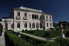 Villa Ile-de-France ou villa Ephrussi-de-Rothschild - English: Villa Ephrussi, French formal garden side.