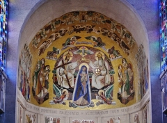 Basilique Notre-Dame de la Trinité - Deutsch: Chormosaik der Basilika Unserer Lieben Frau der Dreifaltigkeit, Blois, Département Loir-et-Cher, Region Zentrum-Loiretal, Frankreich