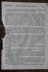 Ermitage de Saint-Rouin, puis chapelle de pèlerinage - Français:   Historique de l\'Ermitage affiché à l\'entrée de la chapelle.