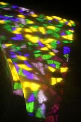 Ermitage de Saint-Rouin, puis chapelle de pèlerinage - Français:   Jeu de lumière à l\'intérieur de la chapelle