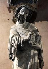 Ancien couvent des Cordeliers - Français:   Statue représentant un apôtre non identifié, par le \